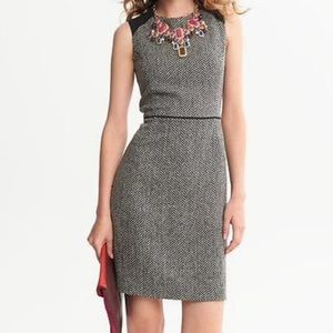Banana Republic • herringbone tweed sheath dress